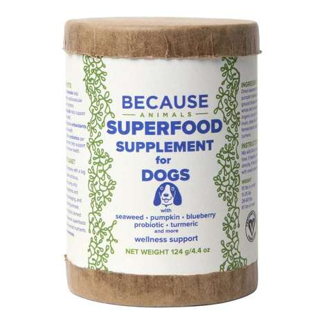 Algae-Based Pet Supplements - 'Because Animal' Supports Pets with All-Natural, Eco-Friendly Products