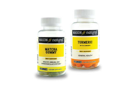 Superfood Vitamin Gummies - Mason Vitamins Launched Matcha and Turmeric Gummy Supplements