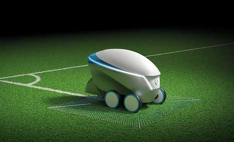 Automated Soccer Pitch Robots