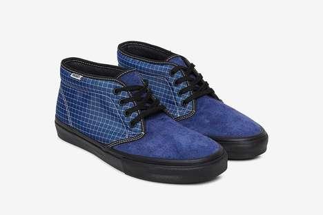 Retro Gridded Skate Sneakers
