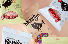 Cheeky Bird-Branded Candies - The Kandy Packaging is Cheerful and Bold