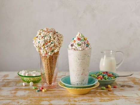 Cereal Milk Ice Creams - Marble Slab Creamery Now Offers a Limited Cereal Milk Flavor & Shake