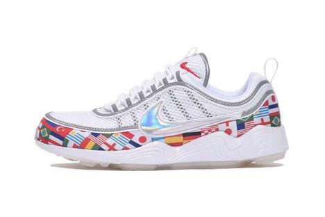 Flag-Motif Celebratory Sneakers