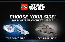 Sci-Fi Interactive Mall Campaigns - LEGO Star Wars Honors the Film with High-Tech Gesture Sensors