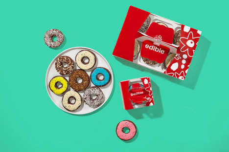 Donut-Like Apple Snacks - Edible's Chocolate-Covered Apple Treats are Branded as 'Edible Donuts'