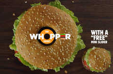 Donut-Celebrating Burgers - The Burger King Whopper Donut is Available Only on June 1