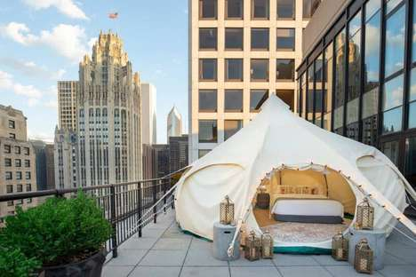 Luxury Urban Glamping - Chicago's Gwen Hotel is Offering a New Luxe Urban Glamping Experience