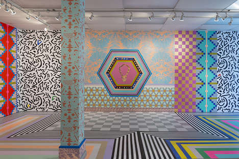 Patterns as a Language - Dominique Pétrin Creates Spaces Inspired by Virtual Environments