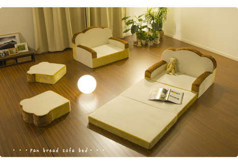 Comfy Bread-Shaped Sofas