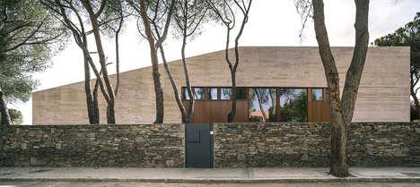 Slanted Spanish Homes