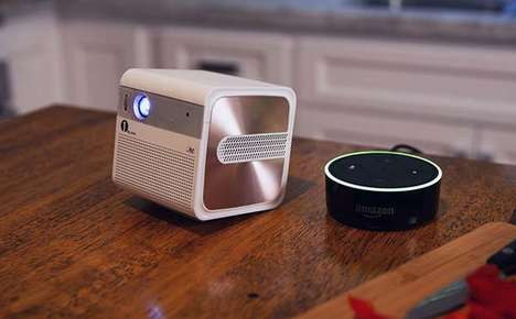Voice Assistant Projectors - The 'GoSho' Mini HD Projector Creates a 200-Inch Widescreen Image