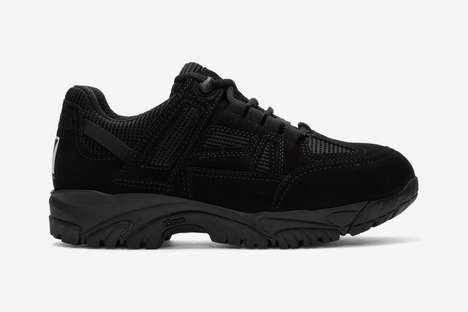 Security-Inspired All-Black Shoes