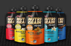 Protein Breakfast Pouches - The Nutri-Grain TO GO Protein Squeezers Appeal to On-the-Go Consumers