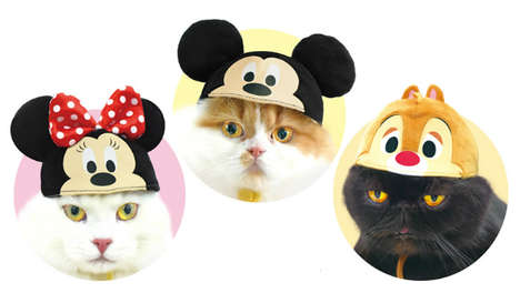 Disney-Inspired Cat Hats - Disney and Necos Collaborate on an Adorable Collection of Hats for Pets