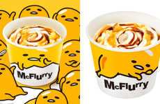 Egg-Inspired Soft Serve Cups - McDonald's Added to Its McFlurry Flavors with a Fun Variety & Design