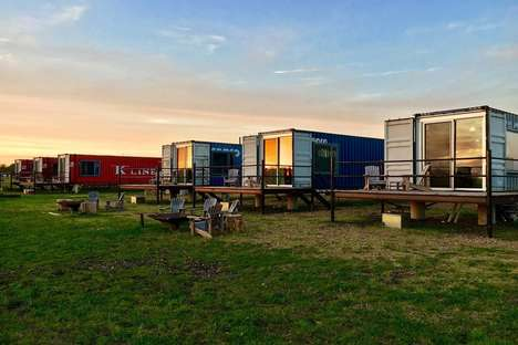 Tiny House Hotel Suites - The Flophouze Hotel Features Rooms Made from Recycled Shipping Containers
