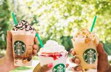 Rich Whipped Strawberry Beverages - Starbucks' Serious Strawberry Frappuccino Satisfies Sweet Tooths
