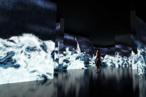 Immersive Ocean-Inspired Art Exhibits - Hieoshi Senju & teamLab Collaborated on an Exhibit in Japan