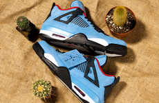 Rapper Collaboration Speckled Sneakers - Travis Scott & Nike Dropped Cactus Jack Air Jordan 4s