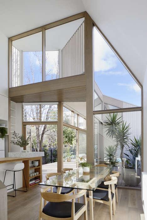 Glassy Angular Family Homes