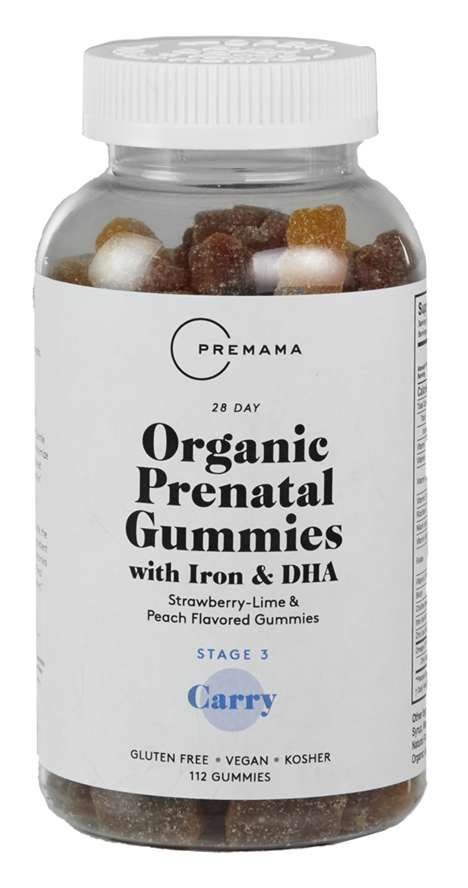 Free-From Prenatal Gummies - Premama's Organic Prenatal Gummies Contain No Gelatin or Corn Starch