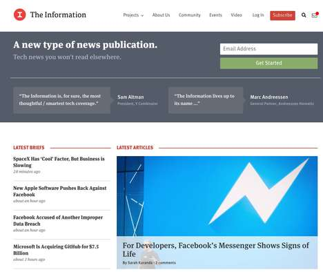 Deeply Reported Tech News - 'The Information' Provides Investigative Journalism by Subscription