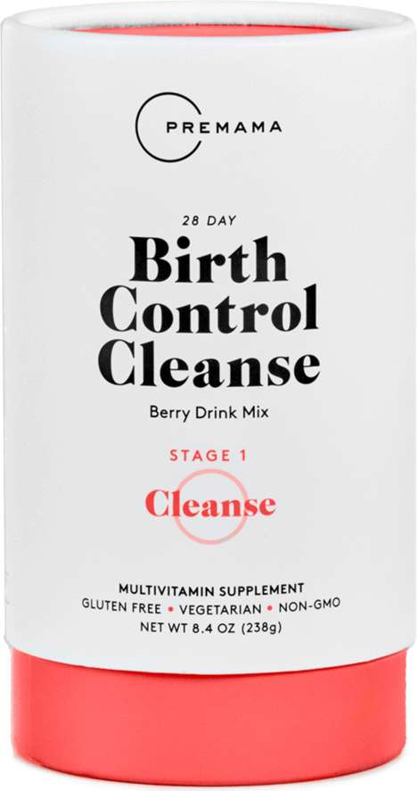Hormone-Balancing Drink Mixes - Premama's Birth Control Cleanse Provides 28 Days of Pregnancy Prep