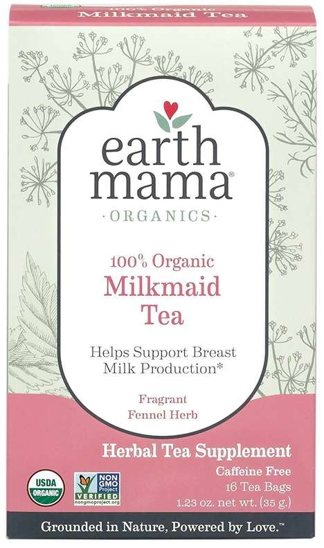Nursing-Specific Tea Blends - Earth Mama Angel Baby's Milkmaid Tea Helps Boost Milk Production