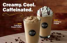 Mainstream Cold Brew Drinks - The New McDonald's Cold Brew Frozen Coffees are Indulgent