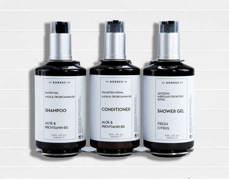 Apothecary Hotel Bath Amenities - AC Hotels by Marriott and KORRES Launched a Line of Bath Products