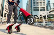 Foldable Three-Wheeled Electric Scooters