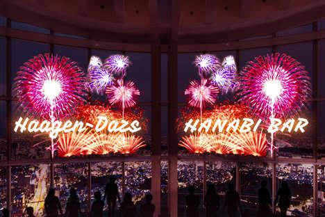 Digital Fireworks Bars