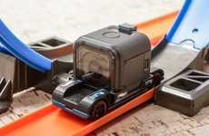 Action Cam Toy Cars - The Hot Wheels 'Zoom In' Car was Developed by Mattel and GoPro