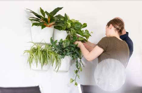 Chic Modular Plant Pots - Leafy — a Wall-Hanging Plant Pot, Brings a Fresh Aesthetic to the Interior