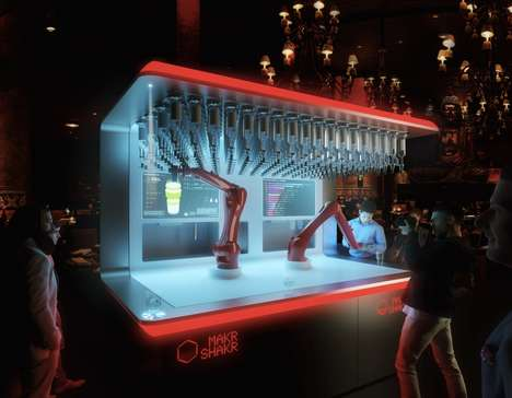 Mechanized Mixology Machines - The Makr Shakr is a Robotic Bartender That Can Make Almost Anything