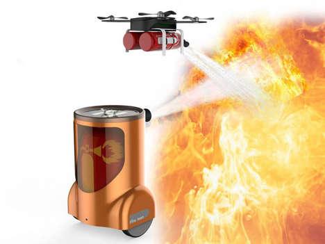Automated Fire-Extinguishing Robots