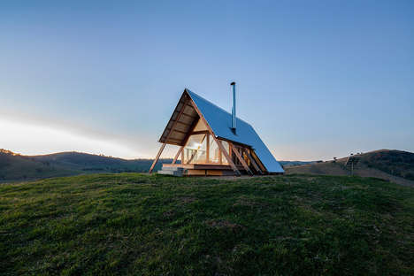 Tent-Shaped Hut Rentals - Luke Stanley Architects & Anthony Hunt Design Collaborate on a Cute Deisgn