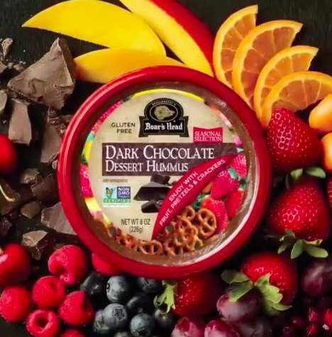 Dark Chocolate Dessert Hummus