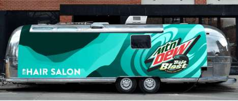 Mobile Pop-Up Hair Salons - Taco Bell Promotes Its New Baja Blast with a Fun & Colorful Initative
