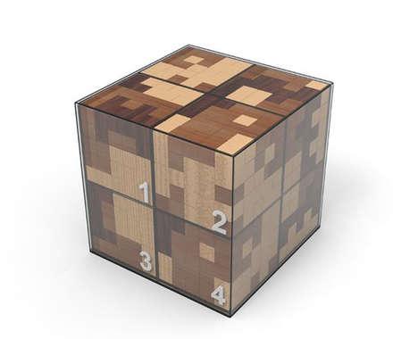 Pixelated Desktop Puzzle Toys