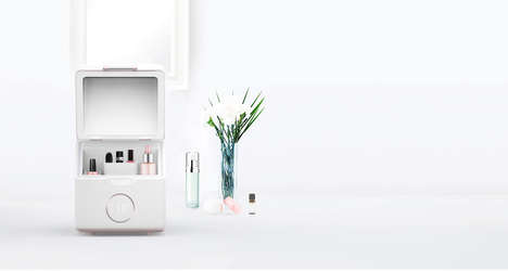 Refrigerated Beauty Boxes - Beautigloo Preserves Beauty Products with Smart Storage for Cosmetics