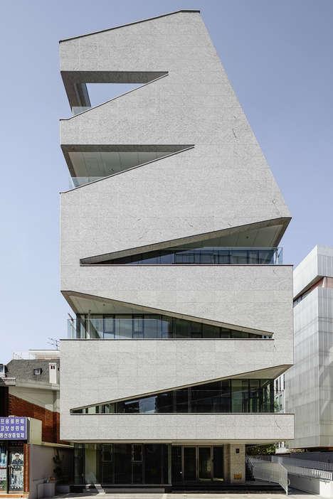 Zigzagging Building Facades