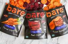 Baked Veggie-Based Snack Chips - The New Bare Snacks Vegetable Chips Come in Three Varieties