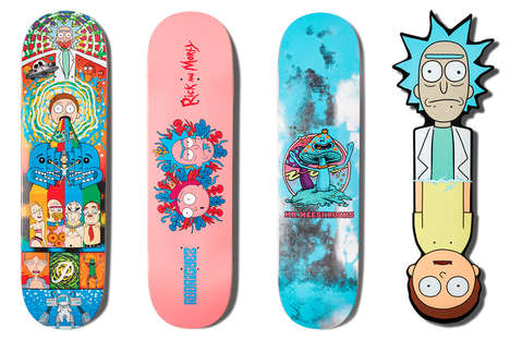 Cartoon-Inspired Skateboarding Collections