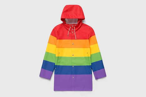 Pride-Honoring Rainbow Raincoats