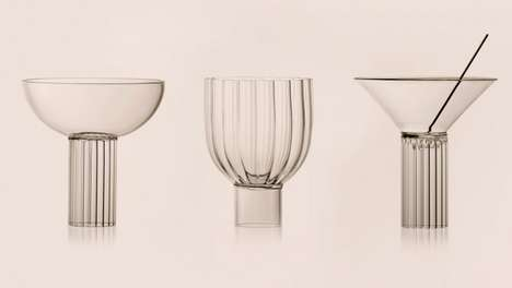 30s-Inspired Cocktail Glasses - Agustina Bottoni's Geometric Cocktail Glasses are Architectural
