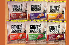 Crunchy Protein-Rich Meat Chips - The Gone Rogue High Protein Chips are a Tasty Snack Alternative