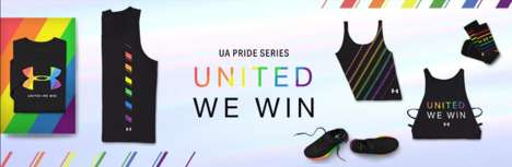 Colorful Pride-Celebrating Activewear - Under Armour's Pride Collection is Entitled 'United We Win'