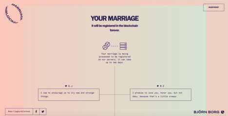 Blockchain Marriage Platforms