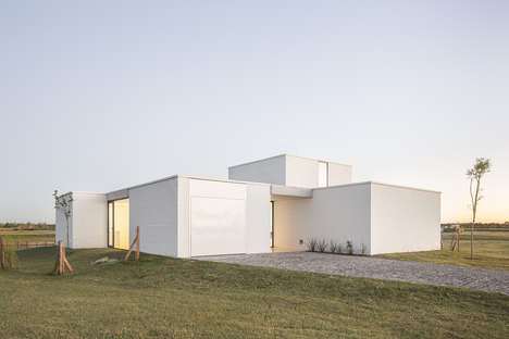 Inventive White Box Homes